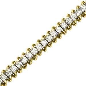 14K Yellow Gold 5 ct. Diamond Tennis Bracelet Katarina