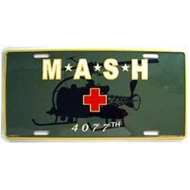 ARMY HUEY MASH 4077TH MEDICAL CAR TAG LICENSE PLATE