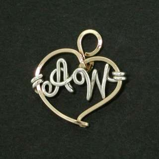 Personalized Heart Belly Charm Gold, Sterling Silver