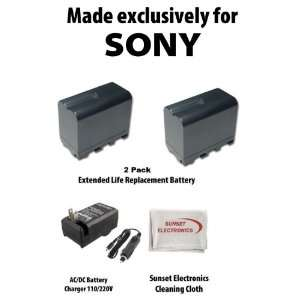 2 Pack Of Li Ion Extended Life Replacement Battery for Sony