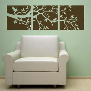 TREE BRANCH +2 BIRDS VINYL WALL DECAL STICKER ART DECOR 894708001045
