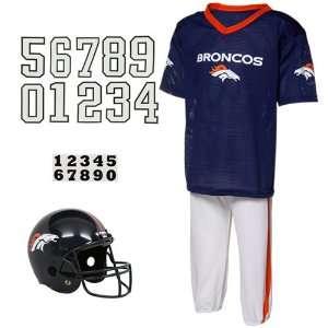 NFL Denver Broncos Youth Navy Blue Deluxe Team Uniform Set
