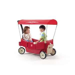 Step2 All Around Canopy Wagon, Red Toys & Games