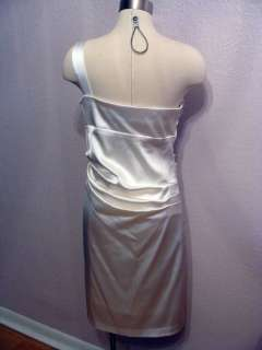& ADAM EMBELLISHED STRETCH SATIN PARTY COCKTAIL DRESS Sz 14