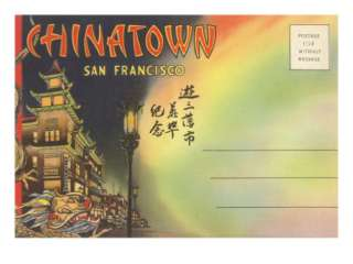 Postcard Folder, Chinatown, San Francisco, California Premium Poster