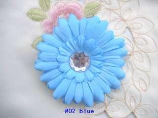 baby crystal gerbera daisy flower hair bow clips 10 or 20 or 30 pcs