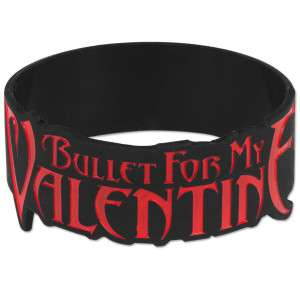 Bullet For My Valentine Big Logo Rubber Bracelet  Shop Ticketmaster