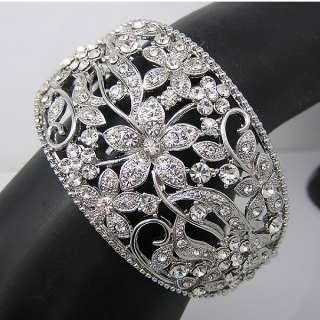 Elegant Bracelet Bangle Cuff W swarovski crystal B284