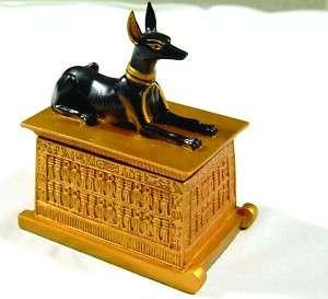 ANUBIS DEITY EGYPTIAN TRINKET BOX STATUE FIGURINE