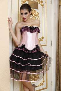 Z7 Burlesque Boned Moulin Rouge Costume Corset + Skirt