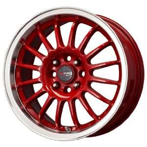 Drag DR 41 Red Wheel with Machined Lip (15x7/4x100mm