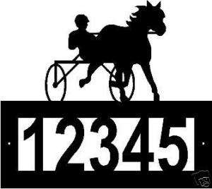 Custom Harness Racing Horse ADDRESS SIGN Steel Metal