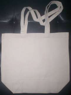 Large Extra Heavy duty canvas plain tote bag/NO DYE/