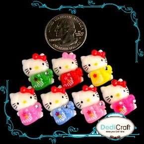 ) Mix Hello Kitty Resin Kimono Japan Flatback Cabochon Embellishment