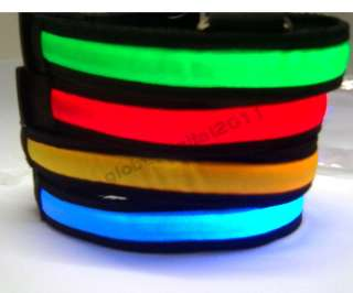 Hot Light Bright LED Flashing Flash Night Safety Pet Dog Belt Collar