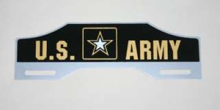 ARMY License Plate Tag Topper   FORD Chevy Rat Hot Rod