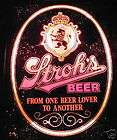stroh s lighted beer lover mirror bubbles sign w crest