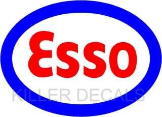ESSO GASOLINE GAS PUMP OIL ANK DECAL BY EXXON |