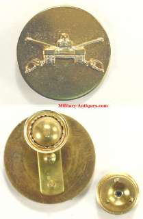 USA Occupation Era Armored Cavalry Collar Disk Insignia