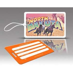 TagCrazy Luggage Tags  North Dakota  Set of Three