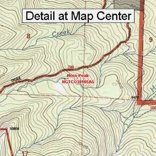 Topographic Quadrangle Map   Horn Peak, Colorado (Folded/Waterproof