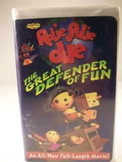 Rolie Polie Olie Great Defender of Fun VHS Tape 786936172027