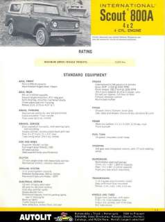 1970 International Scout 800A 4x2 Truck Brochure