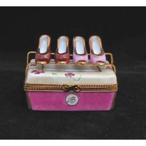 with 2 Pairs of Shoes Ltd Edition French Limoges Box