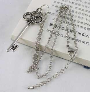 1pcs Tibetan Silver Crown Key Pendant Necklace