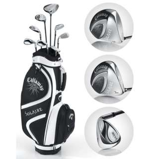 Lady Solaire 9 Piece Full Set right, 8 Clubs + 1 Cart Bag