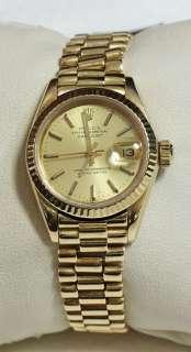 Rolex Ladies President Datejust 18k Yellow Gold 69178