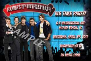 invitation big time rush