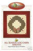 All Season Wreath Log Cabin Quilt Pattern