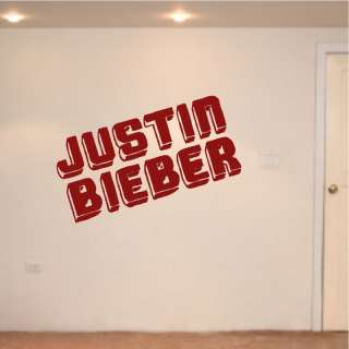 Justin Bieber Wall Art Stickers Decals Decor