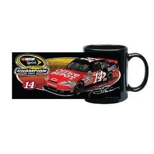 #14 Tony Stewart Sprint Cup Champ Black Coffee Mug Sports