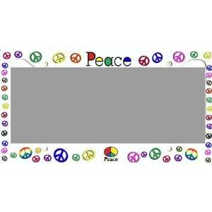 PEACE SIGN PLASTIC LICENSE PLATE FRAME   2682 Sports