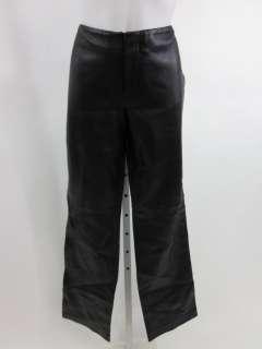 CLUB MONACO Black Leather Pants Trousers Sz 8