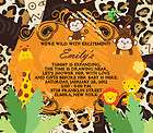 35 Birthday Baby Shower Invitations Jungle Monkey Safari Zoo Magnets
