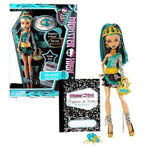 NIB* MONSTER HIGH Nefera De Nile with Pet Scarab Beetle Azura, Dairy