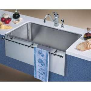 Apron Front Bar Sink : Stainless Steel Apron Front Farm Sink with Towel Bar: Home Improvement