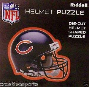 CHICAGO BEARS NFL HELMET SHAPED 100 PIECE PUZZLE 16X16
