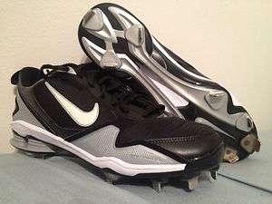 New Nike Shox Fuse 2 Mens Baseball Cleats Black/White/Silver $105