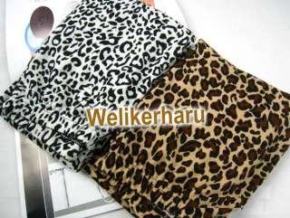 Tights Leopard Print Footless Leggings Pants BROWN