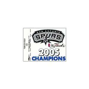 San Antonio Spurs 2005 NBA Champions Small Window Cling