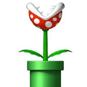 SUPER MARIO Removable Decal WALL STICKER  PIRANHA PLANT