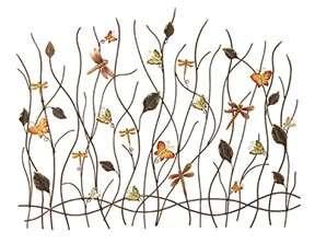 BUTTERFLIES & DRAGONFLIES GARDEN METAL WALL ART DECOR