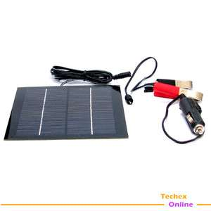 2W Mono Solar Panel Car Battery Laptop Notebook Charger