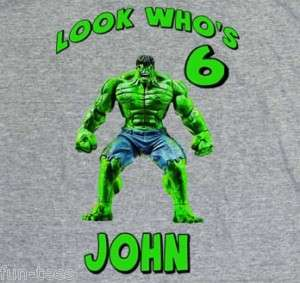 Personalized HULK Superhero Birthday T Shirts All Sizes