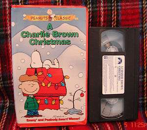 Brown Christmas Beloved Classic Peanuts Original Special Vhs Clamshell