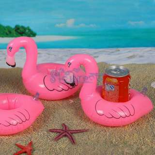 Pink Inflatable Pool Tropical Flamingo Floating Coaster